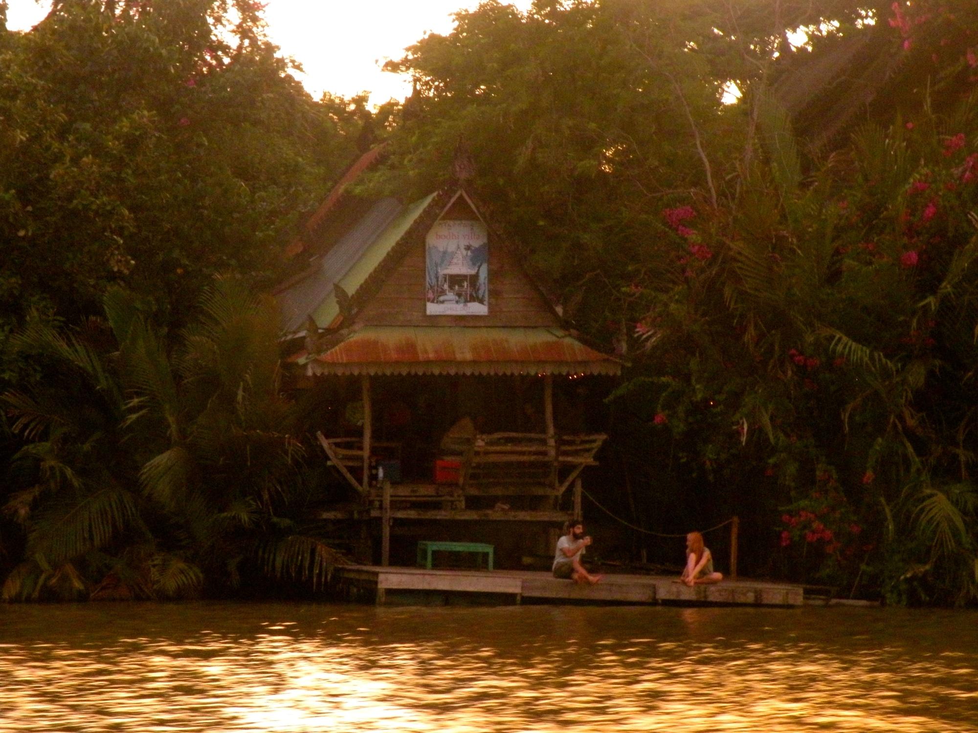 bodhi villa kampot sunset boat cruise
