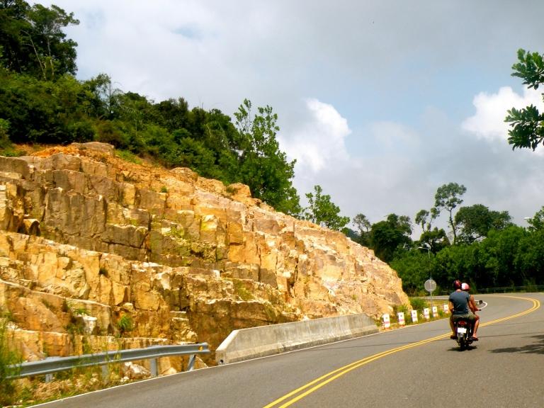 driving up bokor mountain cambodia