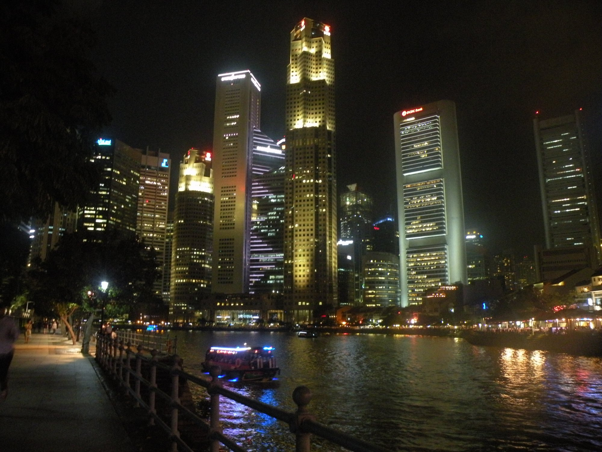 Singapore skyline riverfront