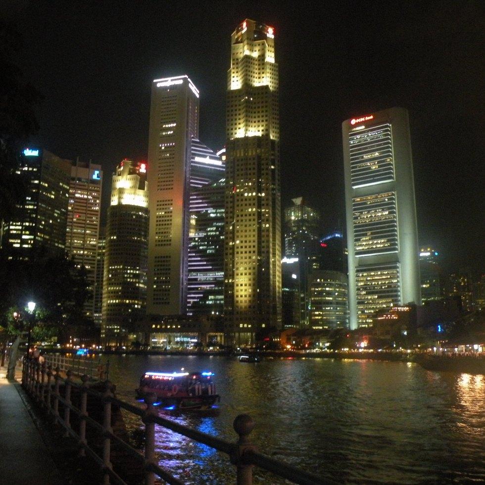 Singapore skyline riverfront