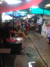Surviving a Cambodian market, despite everyone's attempt to scare me off.