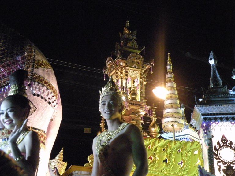 Parade through Chiang Mai to celebrate Thai traditions