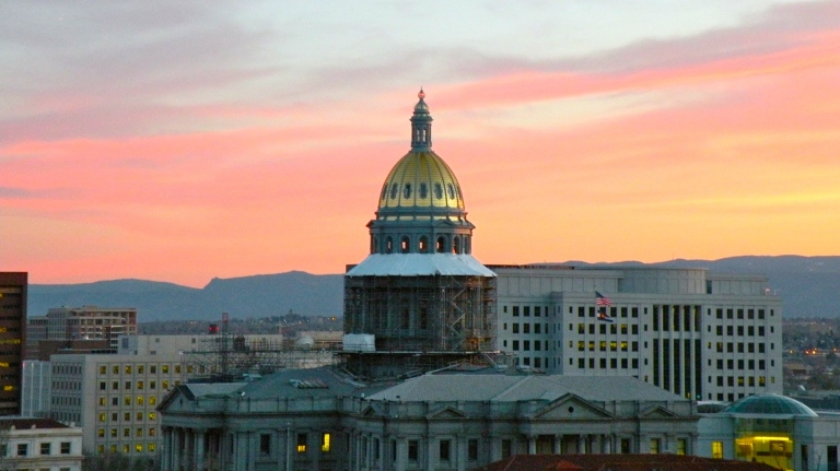 colorado capitol hill denver sunset view