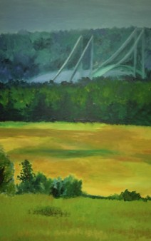 Caterpillar Hill Maine - acrylic on canvas