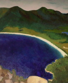 Wine Glass Lake Tasmania Australia - acrylic on canvas