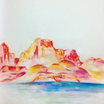 steinharter lake powell watercolor