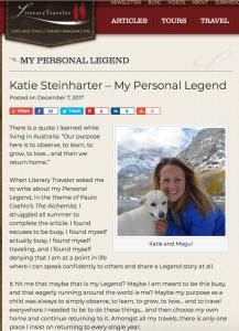 literary traveler personal legend katie steinharter