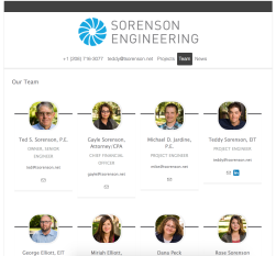 Sorenson Engineering Team (http://www.sorensonengineeringinc.com/our-team)