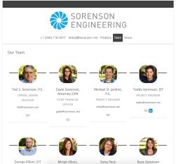 Sorenson Engineering Team (http://www.sorensonengineeringinc.com/our-team)