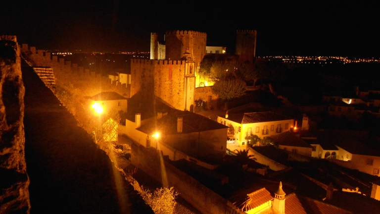 obidos portugal medieval castle walls