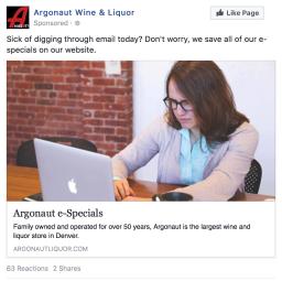 Argonaut Liquor | 0.34% CTR | 9 online purchases | http://bit.ly/2F0RkDO