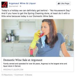 Argonaut Liquor | 0.61% CTR | 2 online purchases | http://bit.ly/2Bp9D5H