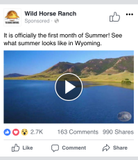 Wild Horse Ranch | 87k views | $0.003 CPE | 8/10 relevance score | http://bit.ly/2ElrzRn