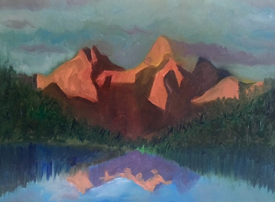 Maroon Bells - acrylic on canvas