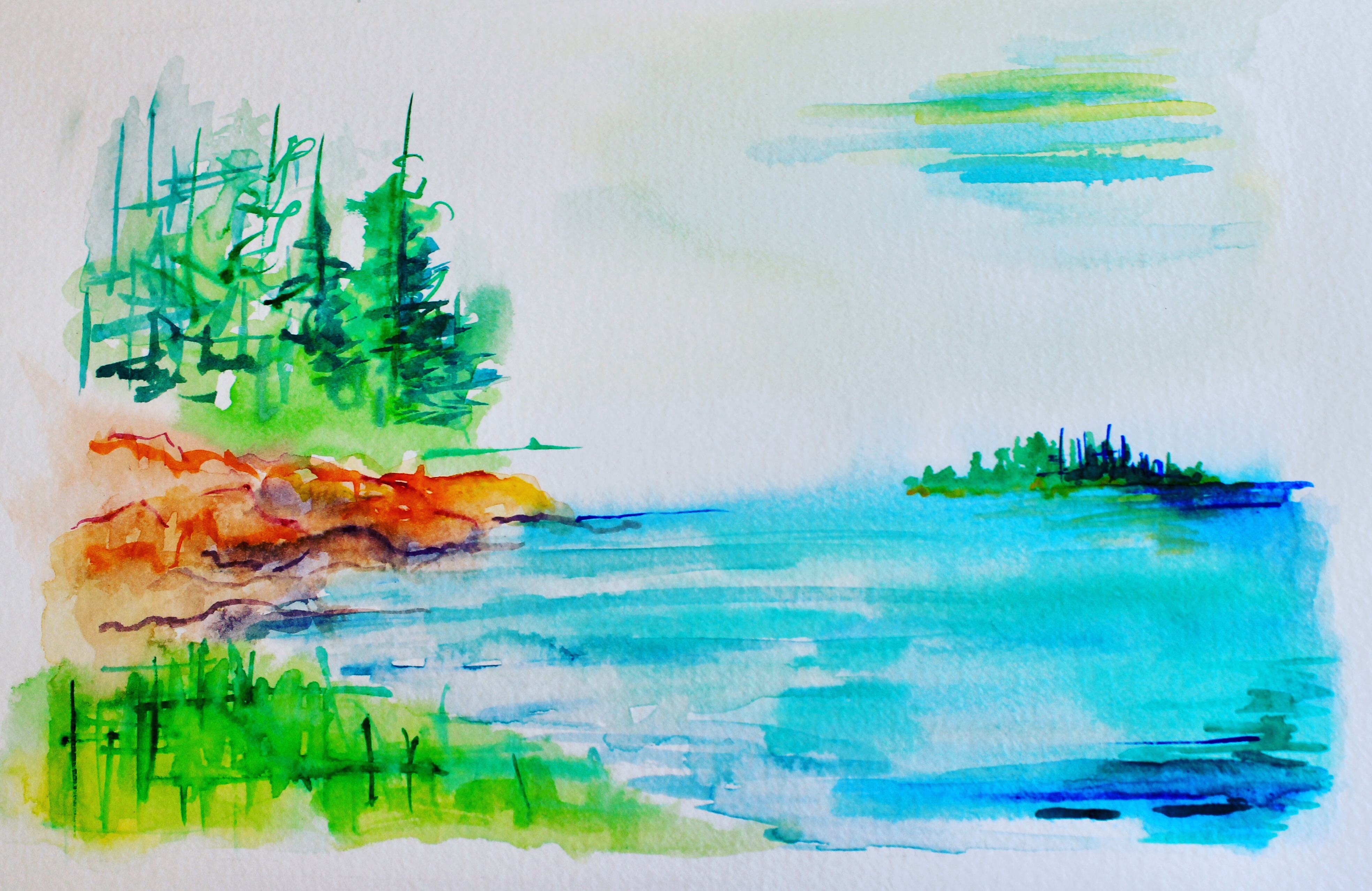 Deer Isle Stonington Maine - watercolor