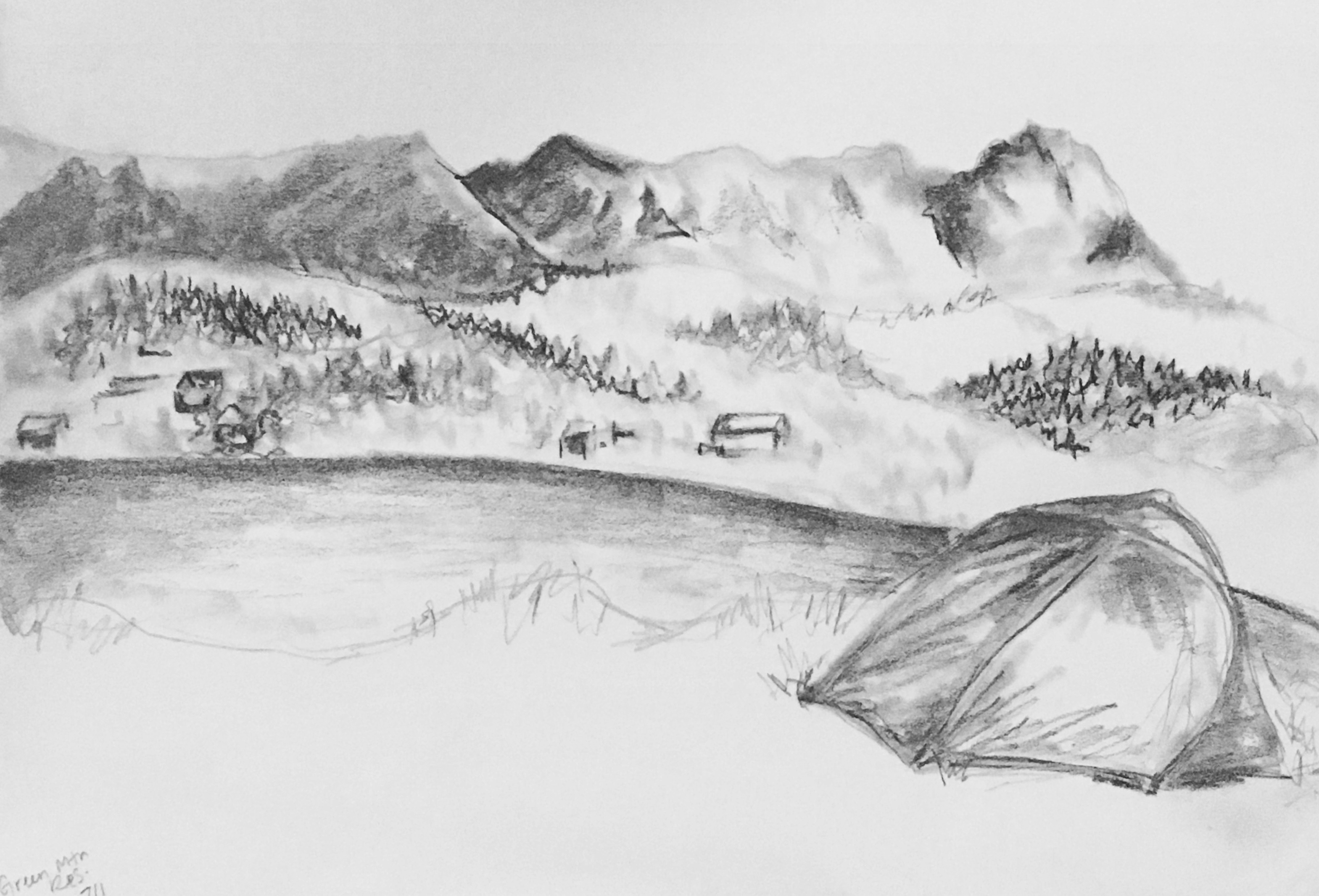 Green Mountain Reservoir, Colorado - sketch