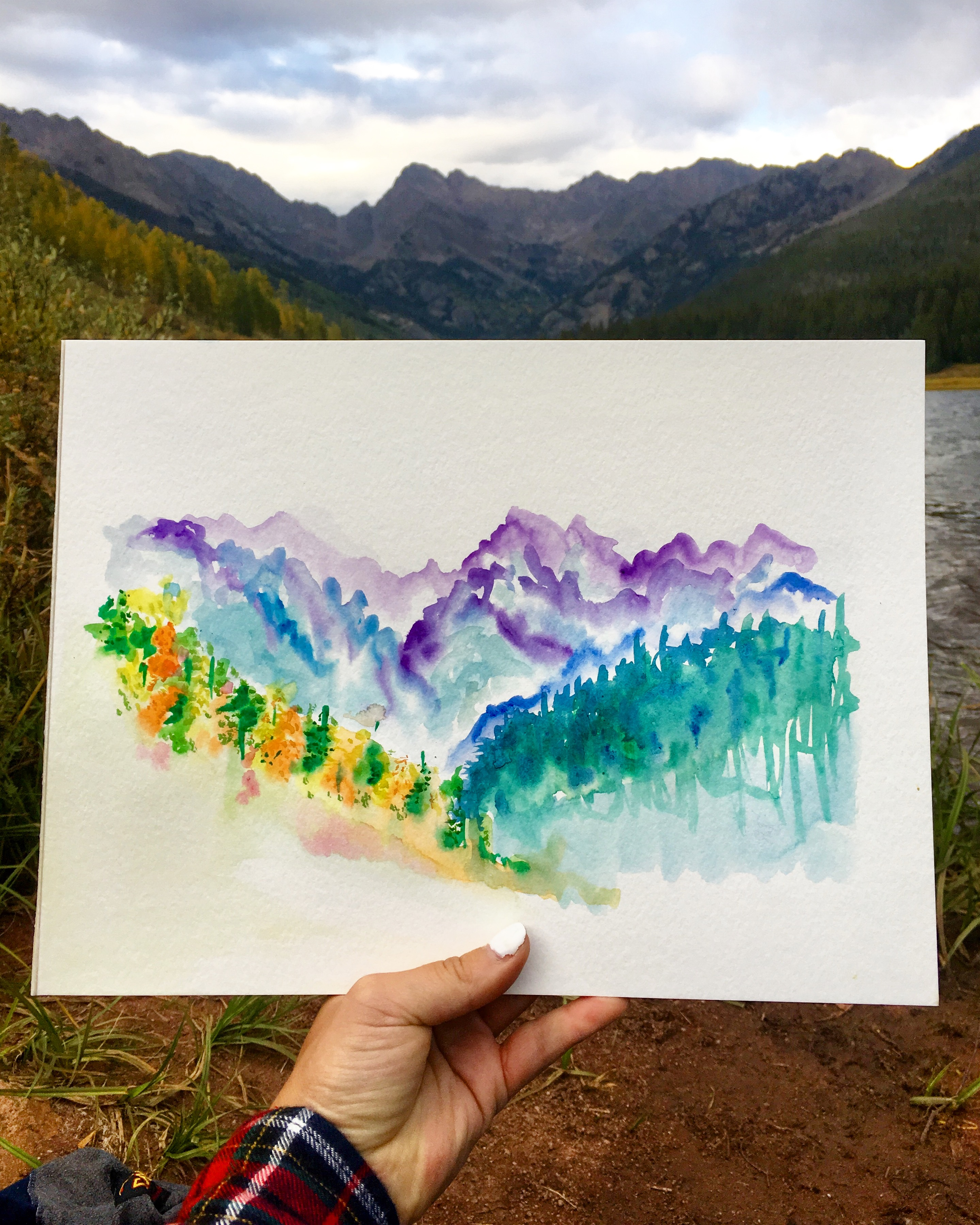 Piney Lake, Vail, Colorado - watercolor