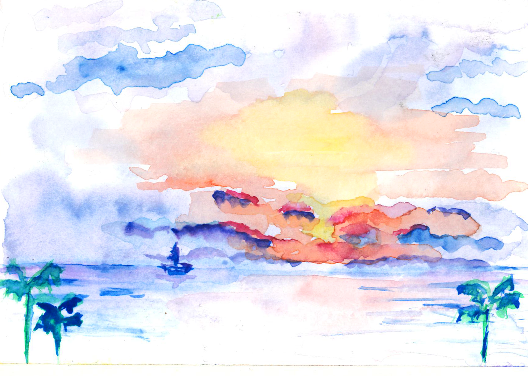 Puerto Vallarta, Mexico - watercolor